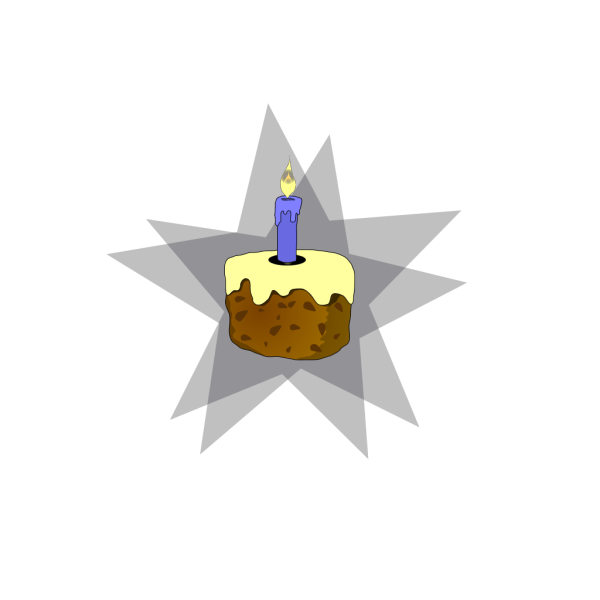 Cake And Candle PNG Clip art