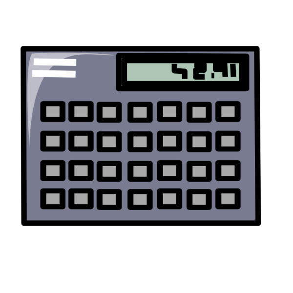 Scientific Calculator Symbol Icon PNG Clip art