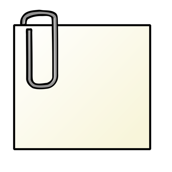 Note With Paperclip PNG Clip art