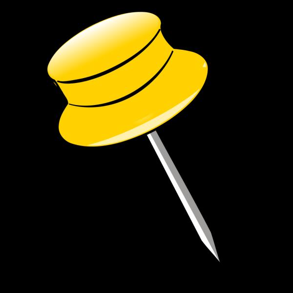 Pin - Yellow PNG Clip art