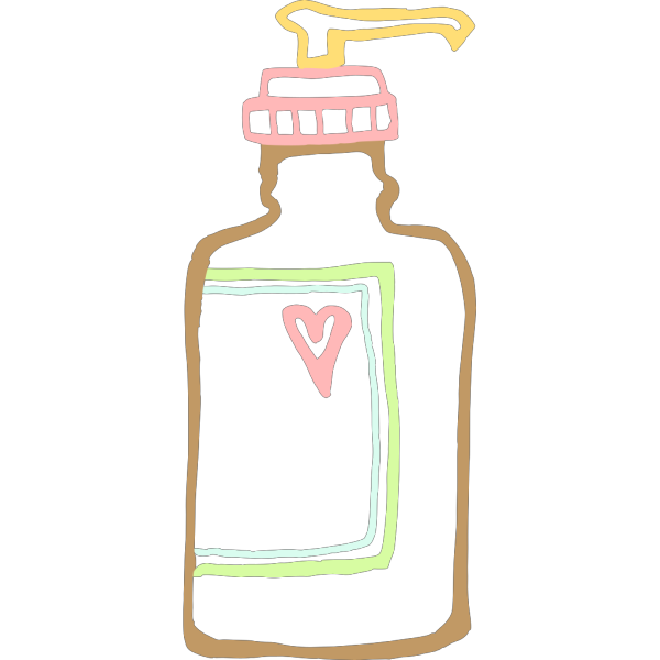 Lotion Push Bottle PNG images