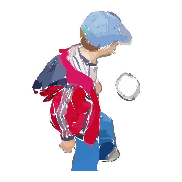 A Boy Plays Soccer PNG Clip art