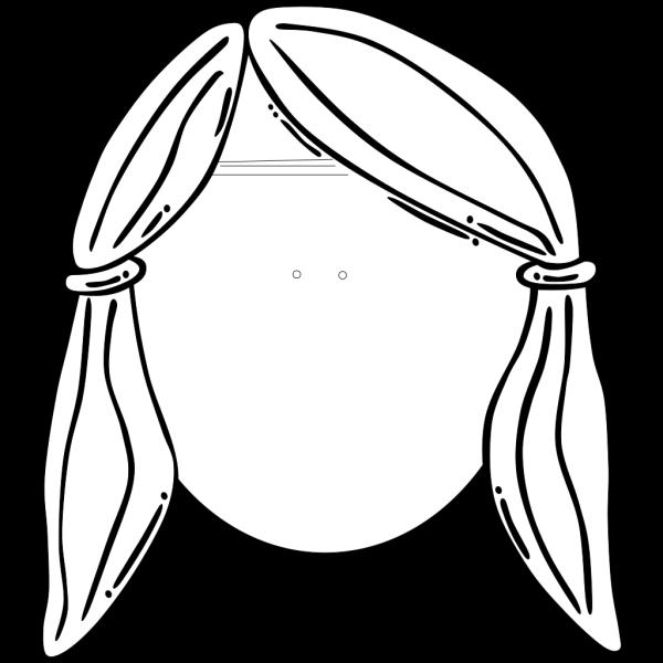 Girls Head Brunette PNG images