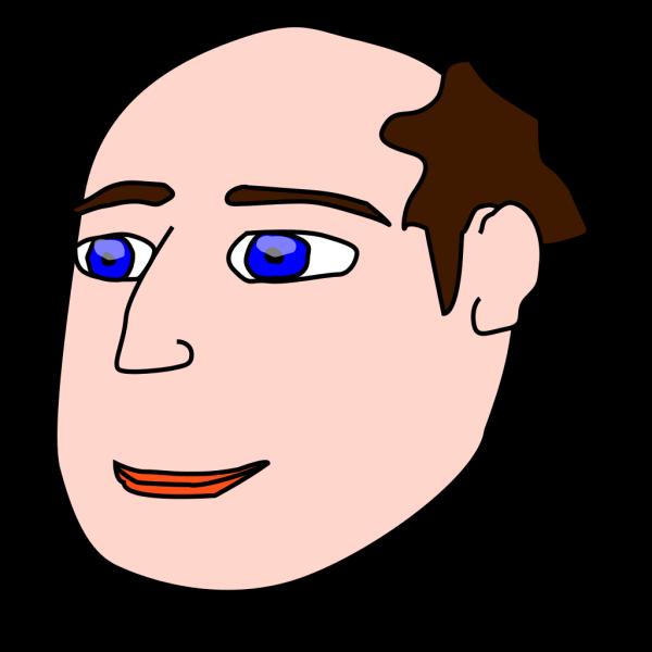 Head Man Light Hair PNG Clip art