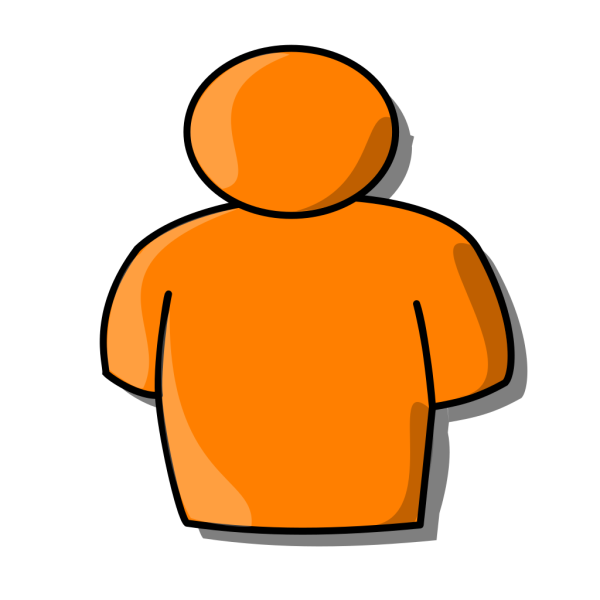 Orange Person PNG clipart