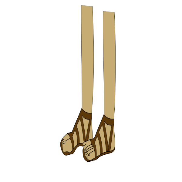 Feet In Sandals PNG Clip art