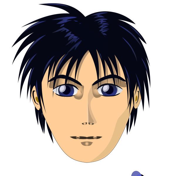 Adult Person Anime Cartoon Head PNG Clip art