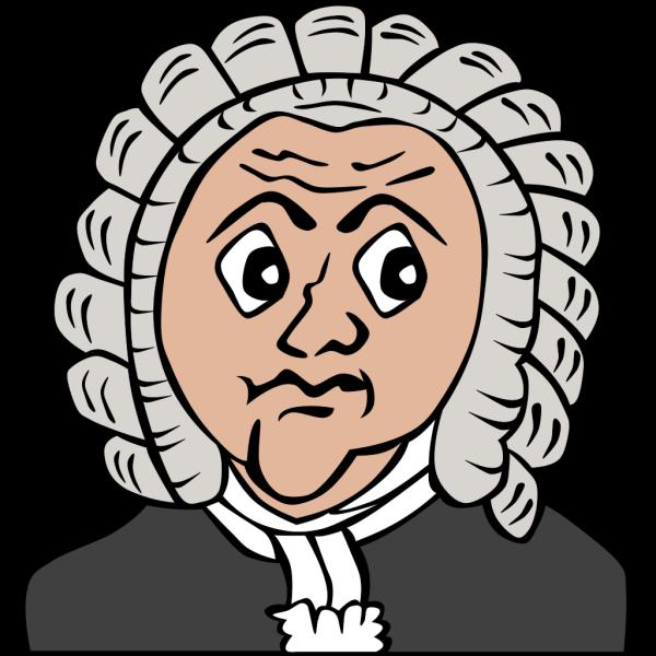 Bach Cartoon Bust PNG Clip art