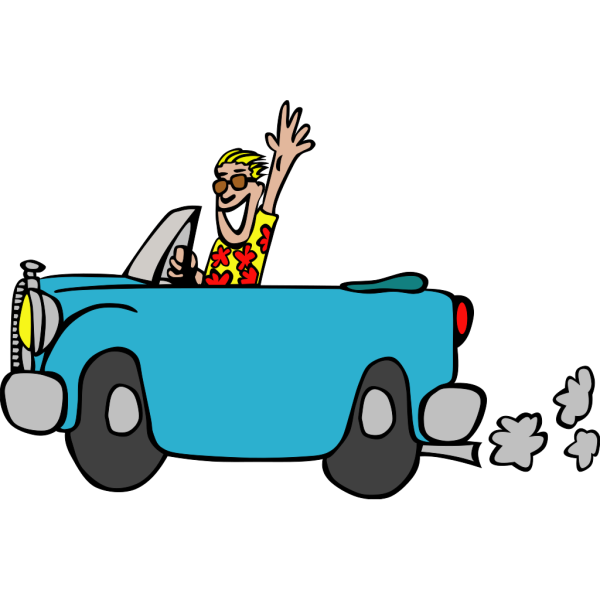 Man Driving Car PNG clipart