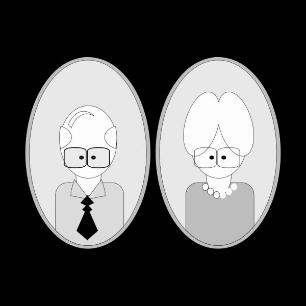 Grandpa And Grandma PNG Clip art