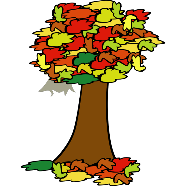 Fall Coloured Tree PNG images