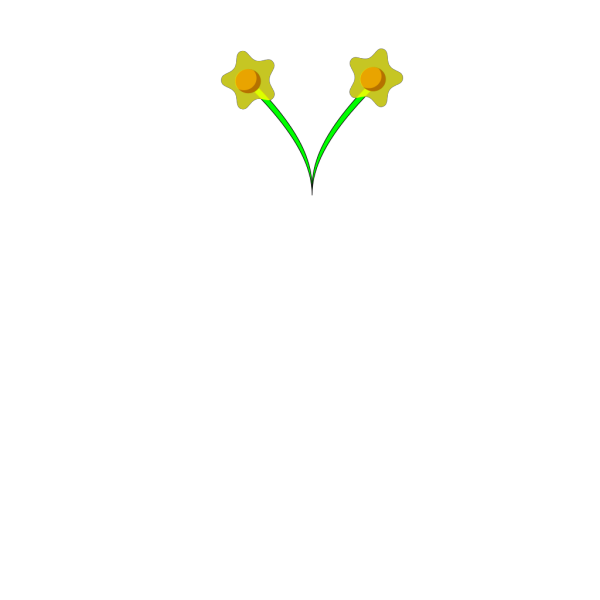 Simple Five Pettle Daffodil PNG Clip art