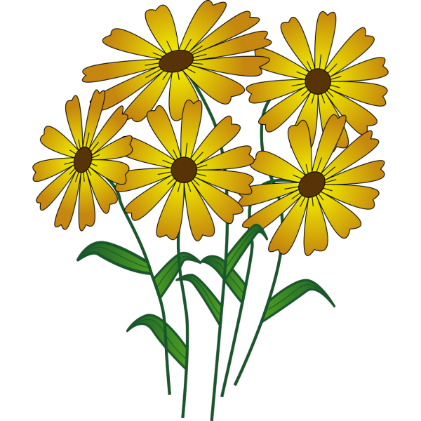 Flowers Silhouette PNG Clip art