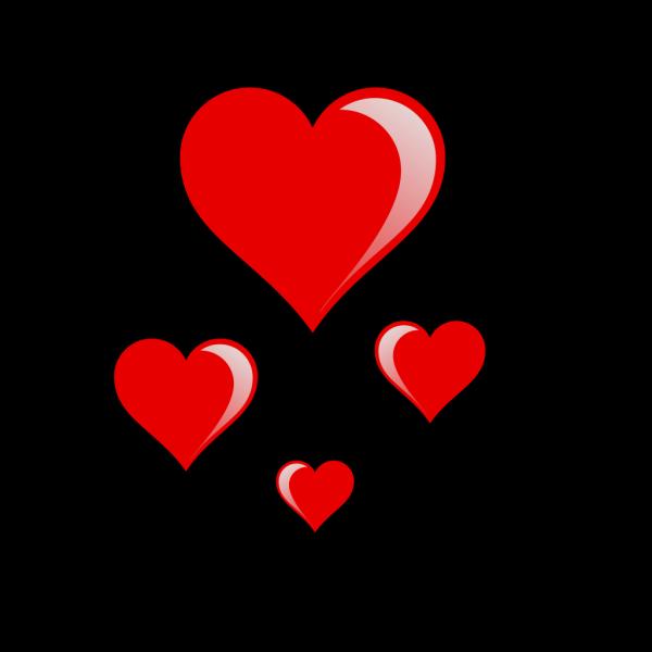Heart Cluster PNG Clip art