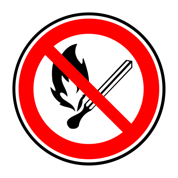 No Fire Or Flames Allowed PNG Clip art