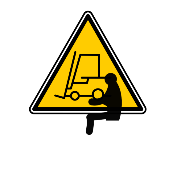 Fork Lift Sign PNG Clip art