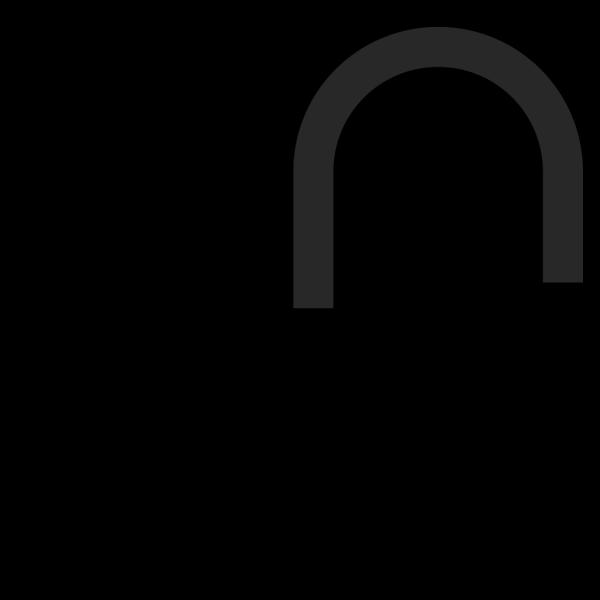 Padlock Unlocked Silhouette PNG Clip art