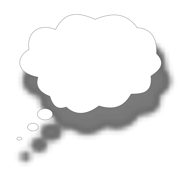 Thought Cloud PNG Clip art
