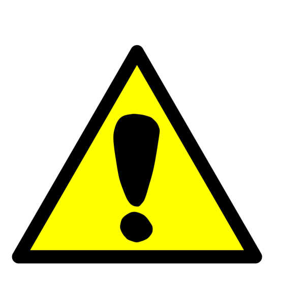 Attention Sign Exclamation PNG icon