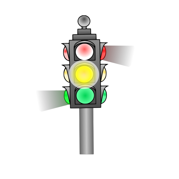 Traffic Light: Yellow PNG Clip art