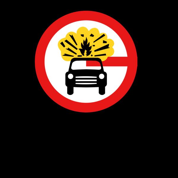 Road Signs Car Explosion Kaboom PNG Clip art