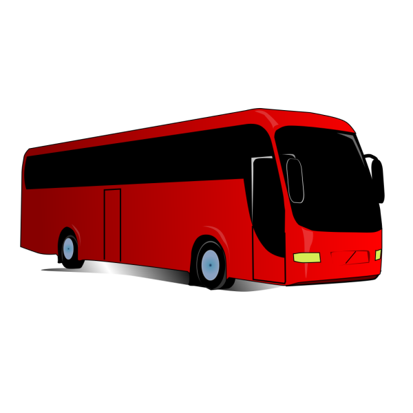 Red Travel Bus PNG Clip art