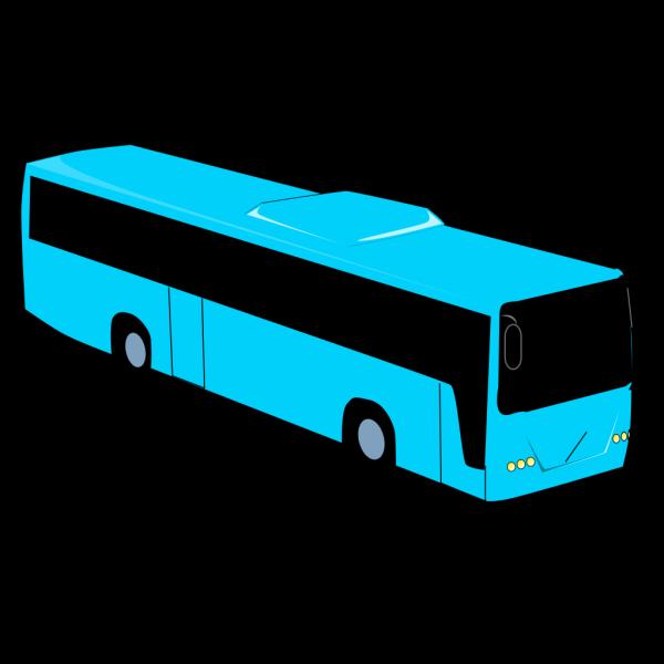Blue Travel Bus PNG Clip art