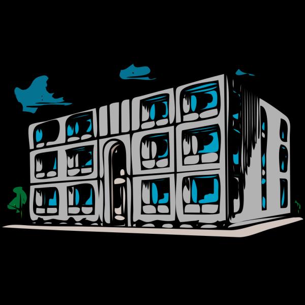 Condominium Apartment Building PNG images