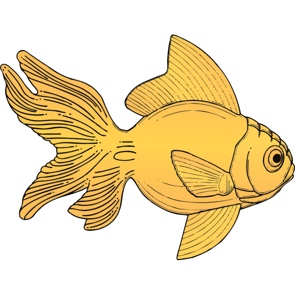 Golden Fish PNG Clip art
