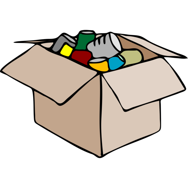 Clothing Carton Box Full Of Socks PNG Clip art
