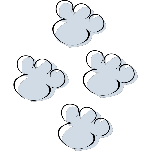 Footprints In The Snow PNG Clip art