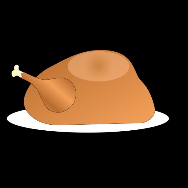 Turkey On Platter PNG Clip art