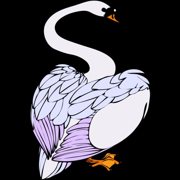 Swan Walking PNG Clip art
