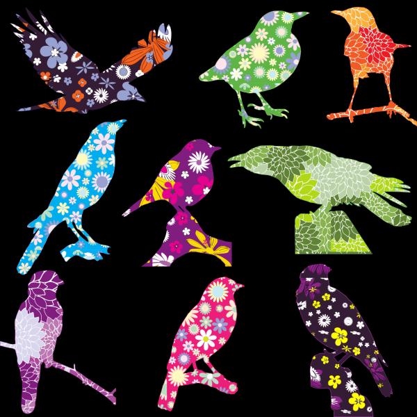 Flock Of Birds PNG Clip art
