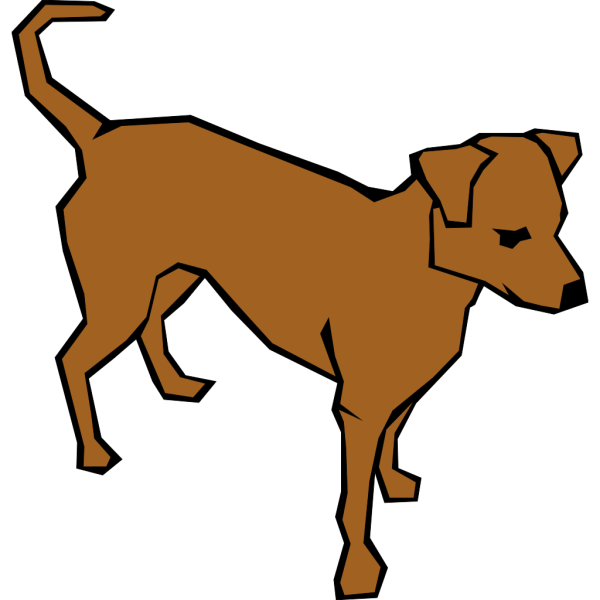 Dog 06 Drawn With Straight Lines PNG Clip art