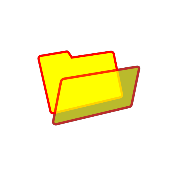 Red Yellow Folder Icon PNG Clip art