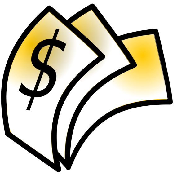 Gold Theme Money Dollars PNG Clip art