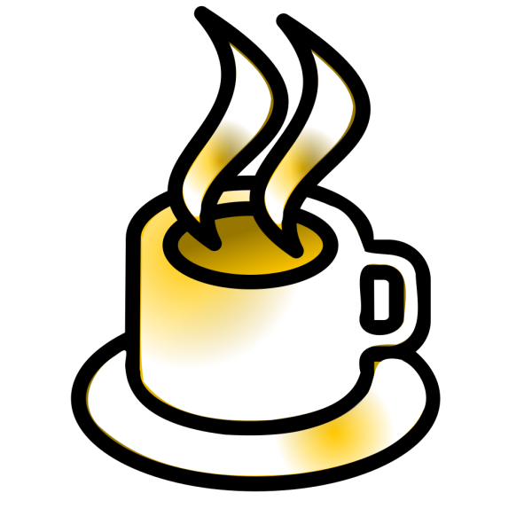 Coffee Cup Gold Theme PNG Clip art