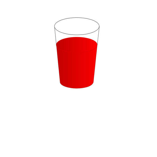 Drinking Glass, With Red Punch PNG Clip art