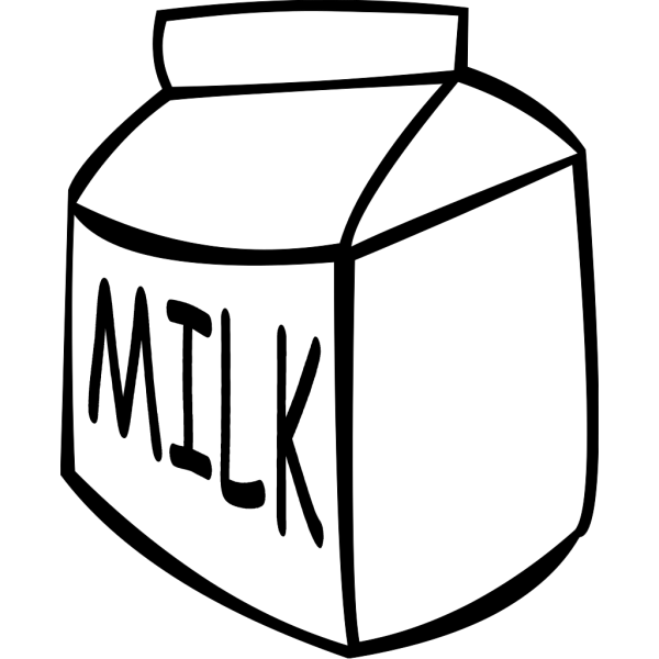 Milk (b And W) PNG Clip art
