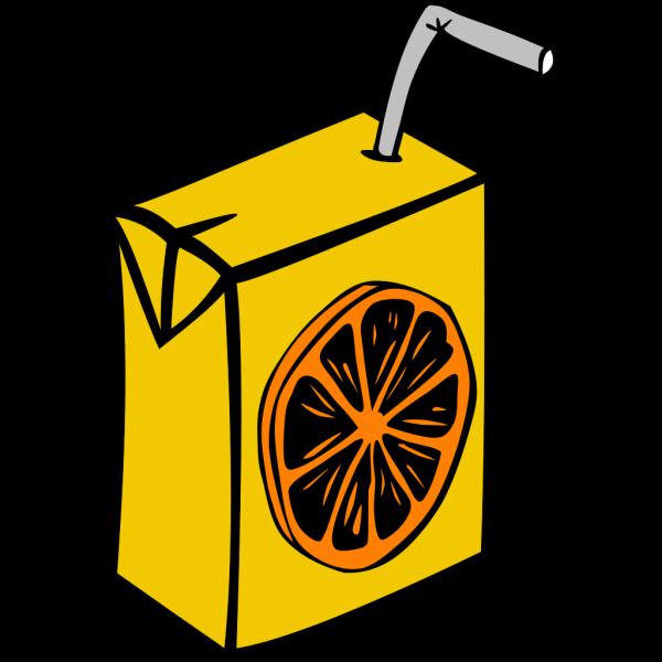 Orange Juice Box PNG Clip art