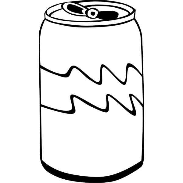 Pop Can (b And W) PNG Clip art