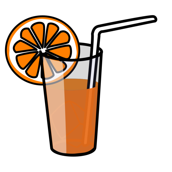 Orange Juice Box (b And W) PNG Clip art
