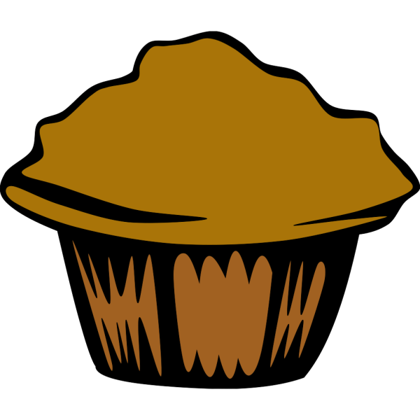 Generic Muffin (b And W) PNG Clip art