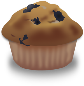 Blueberry Muffin (b And W) PNG Clip art