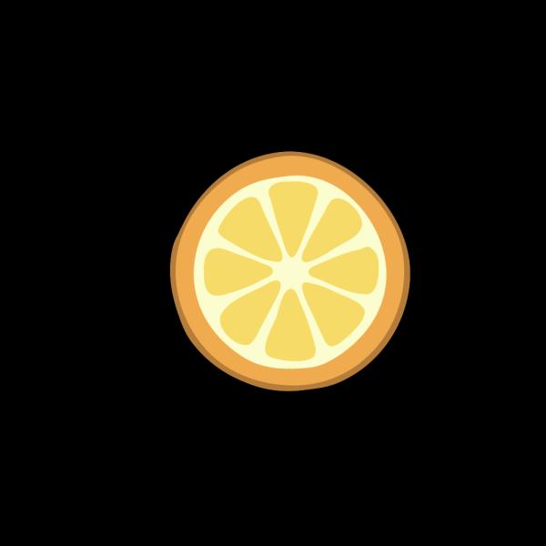 Rondelle Orange PNG Clip art