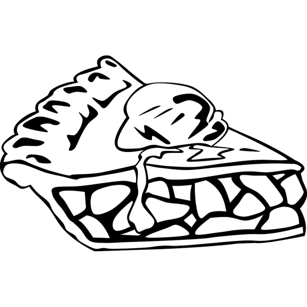 Apple Pie (b And W) PNG Clip art
