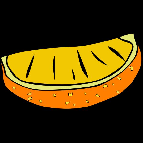 Orange Wedge PNG Clip art