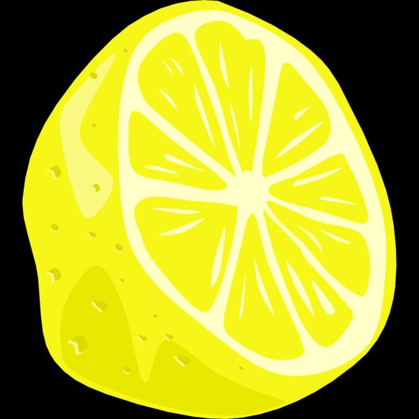 Lemon (half) PNG Clip art