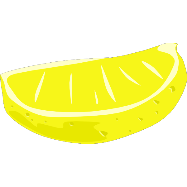 Lemon Wedge PNG Clip art